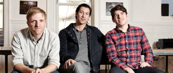 L-R: Charles Adler, Co-founder  of Kickstarter; Perry Chen, Creator and Chairman of Kickstarter; and Yancey Strickler, Co-Founder and CEO of Kickstarter.