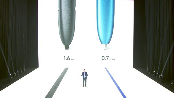 The new S Pen has a more sensitive, more precise tip that's only 0.7mm in diameter.