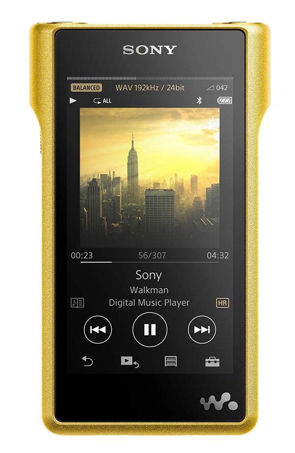 The gold-plated Sony NW-WM1Z Walkman.