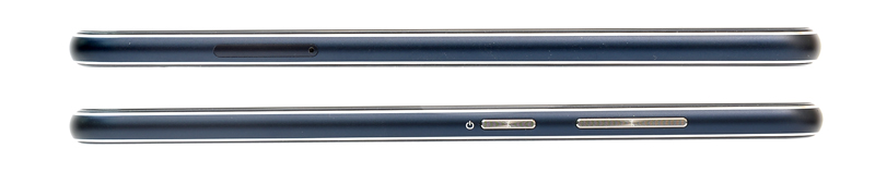 At the top is the left side of the phone, where the SIM slot is located. Below is the right side of the phone.