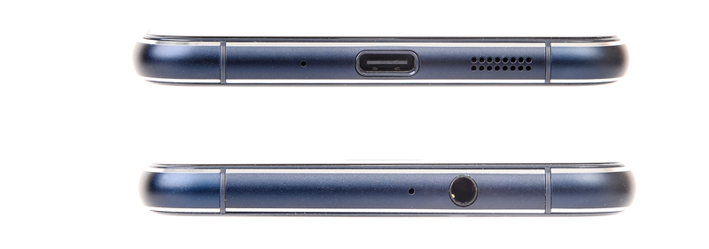 At the top is how the phone looks like from the bottom. You can see the speaker grille and microphone here. The picture below is the view from the top, with the 3.5mm jack visible.