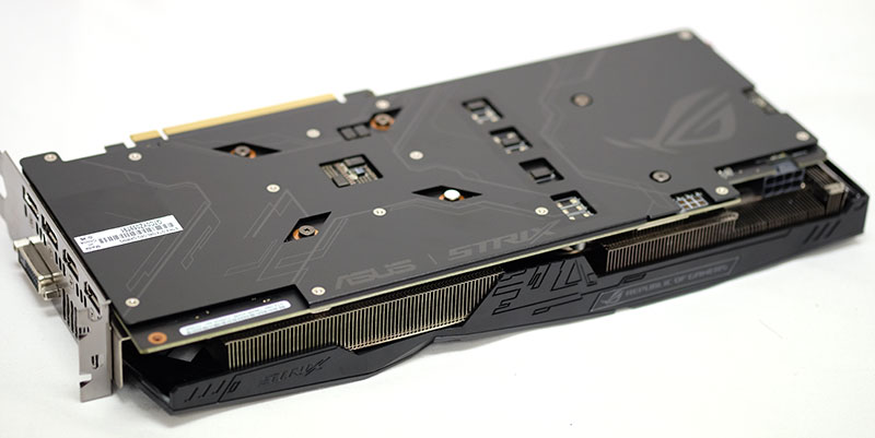 ASUS ROG Strix GeForce GTX 1060 backplate