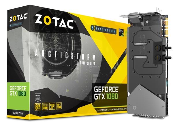 Placa de vídeo Zotac GeForce GTX 1080 ArcticStorm waterblock de arrefecimento líquido-Especificações