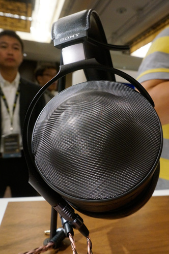 The MDR-Z1R's stainless steel wire mesh housing protector doesn't take away from the luxe feel of the headphones.