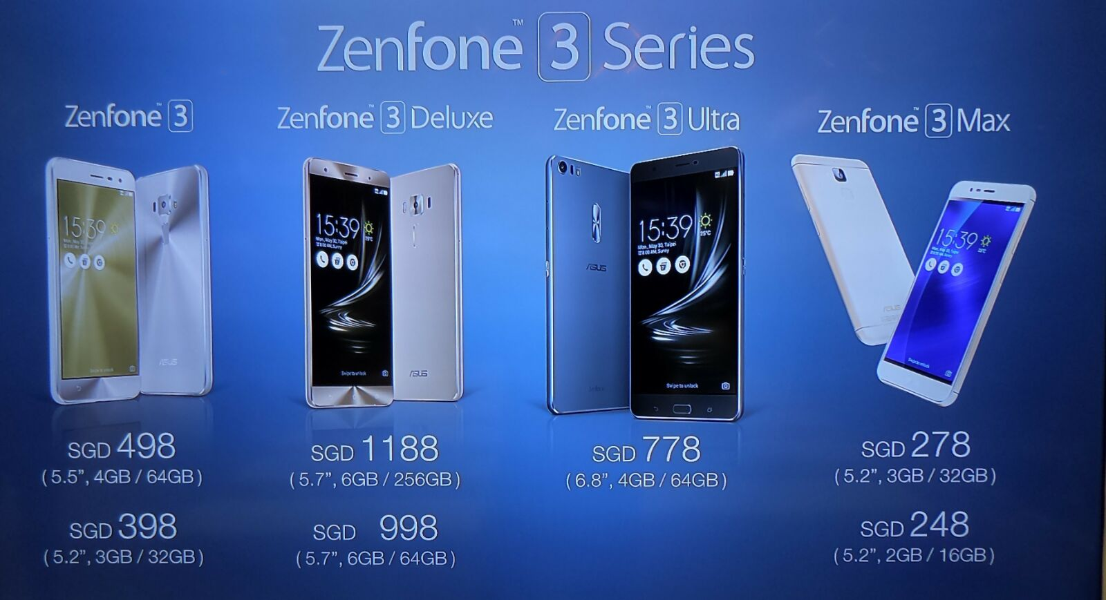 ASUS ZenFone 3 And ZenFone 3 Ultra Launch In Singapore