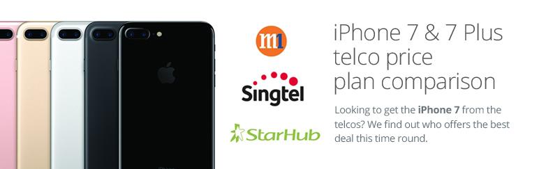 Apple iPhone 7 / 7 Plus telco price plan comparison