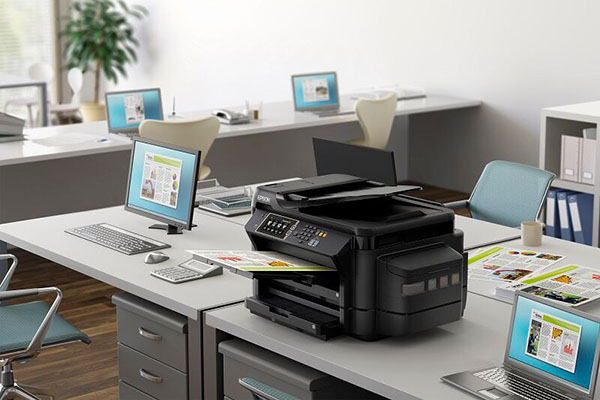 The Epson L1455 ink tank printer is able to print documents