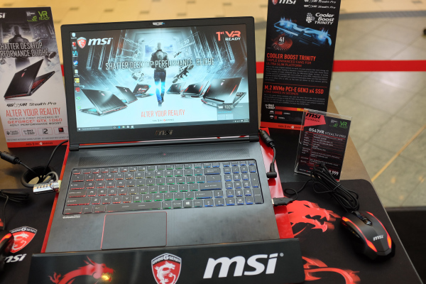 The MSI GS63VR was present at TGS 2016.