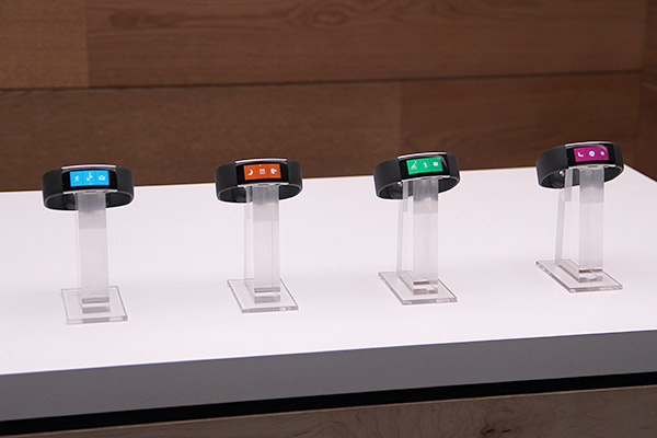 Microsoft Band 2, from their local launch event last year.
