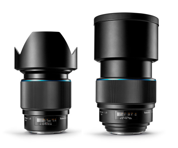 Phase One's new camera lenses: the wide angle 45mm (left) and the telephoto 150mm (right).<br> Image source: CNet.