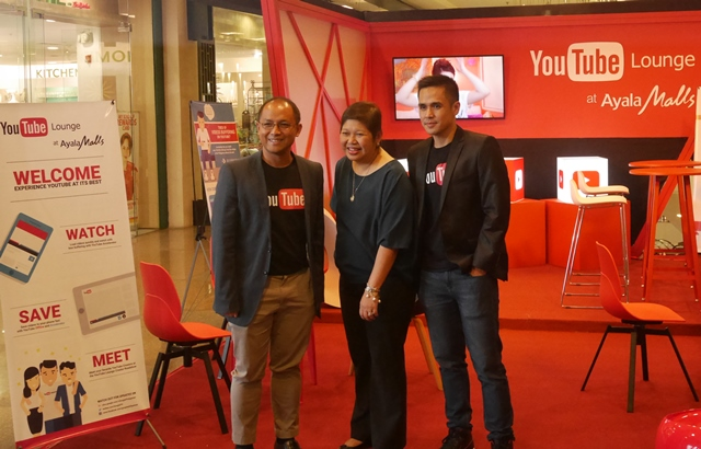 From L to R: Ken Lingan, Google Philippines Country Manager; Rowena Tomeldan, President of Ayala Land Malls Inc.; and Gabby Roxas, Google Philippines Country Marketing Manager