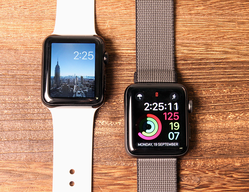 The Apple Watch Series 2's display is brighter and looks more vivid. It's also easier to read in bright sunlight.