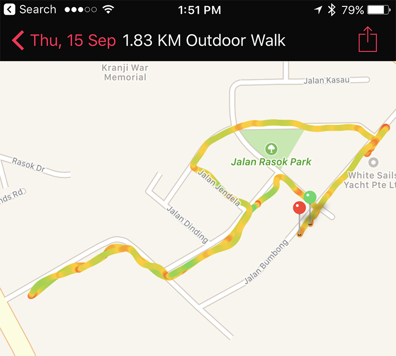Now, you don't need to take iPhone with you if you want to map your exercise route.
