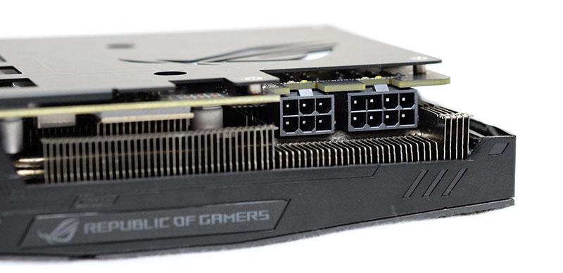 ASUS ROG Strix GeForce GTX 1080 power connector
