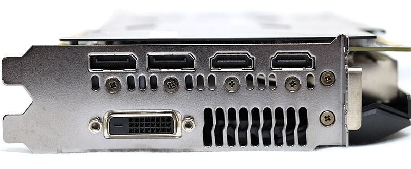 ASUS ROG Strix GeForce GTX 1080 display connectors