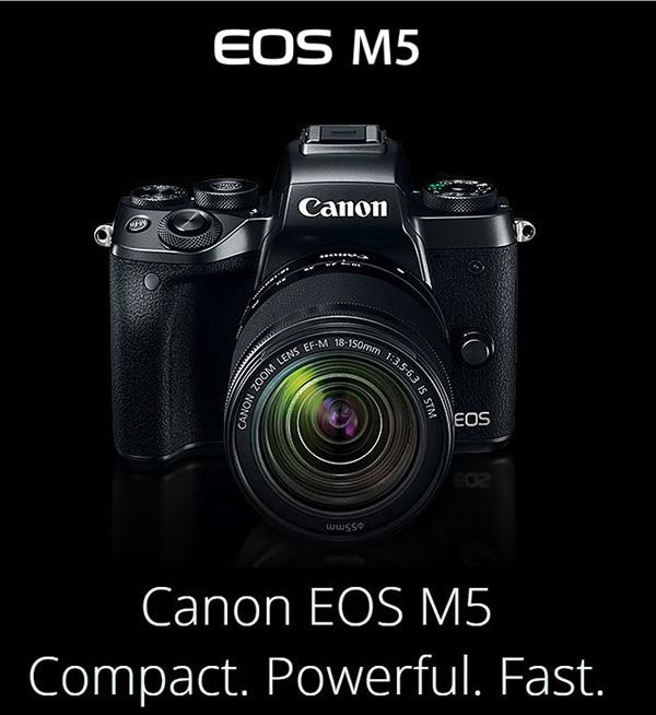 canon announces latest eos m5 mirrorless camera. Black Bedroom Furniture Sets. Home Design Ideas