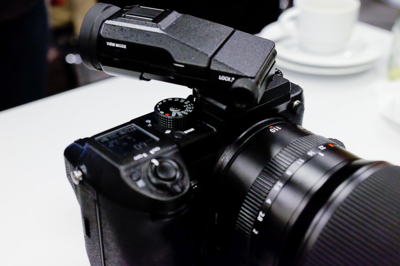 The waist-level EVF looks to be a handy option for product photographers.