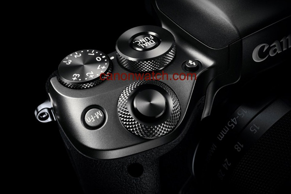 It seems like the new M5 will have knurled dials. <br> Image source: Canon Watch