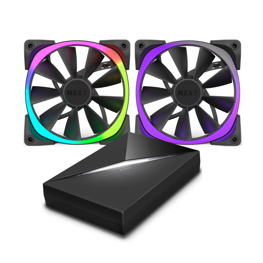 The fans require the Hue+ controller for RGB lights, and NZXT offers the fans and controller at a bundled price.