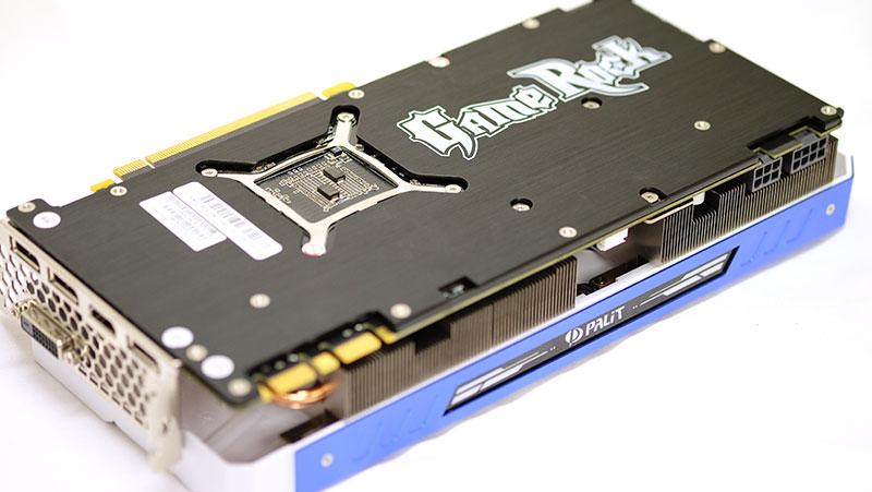 Palit GeForce GTX 1080 GameRock Premium Edition backplate