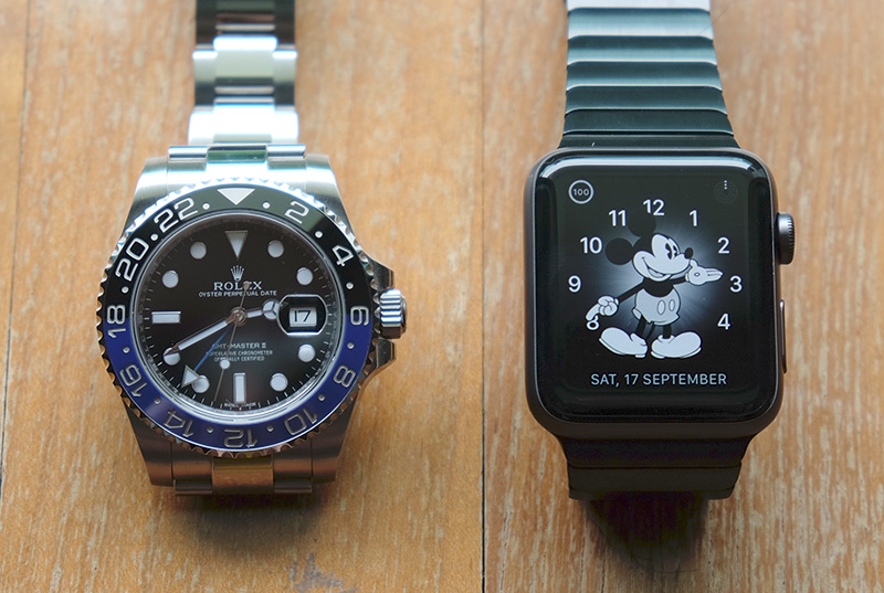 The world's two biggest watch brands, side by side.