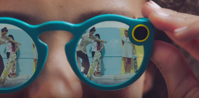 Spectacles by Snapchat, as seen in their promotional video.