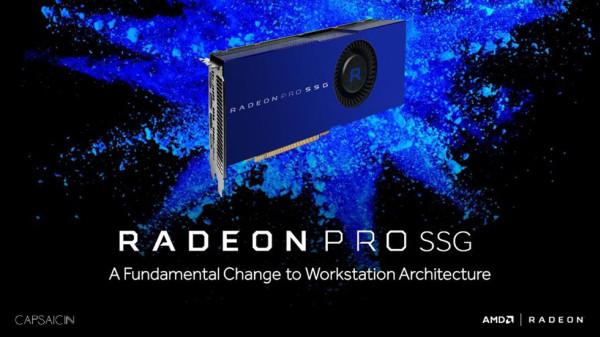 AMD's 1TB Radeon SSG is based on the company's currently existing Fiji GPU. Dracarys will be based on the Vega 10 GPU. <br> Image source: Ubergizmo.