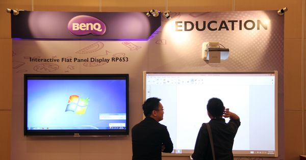 benq launches a new 65 inch interactive flat panel display
