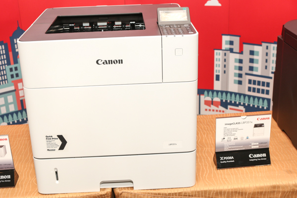 Canon didn't have the imageCLASS LBP352x on display earlier today, so here's its younger sibling, the imageCLASS LBP351x, which has a slightly lower print speed of 55 ppm.