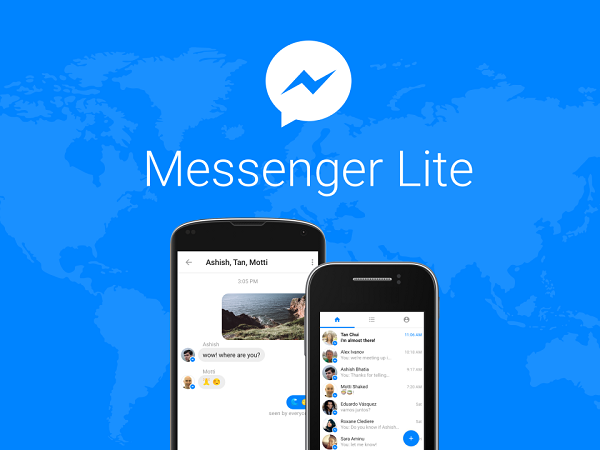 Facebook Messenger goes on diet, launches Messenger Lite for Android