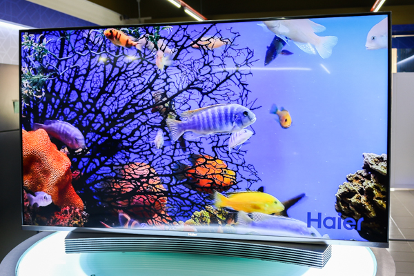 haier 55 inch 4k tv. let\u0027s start off with the le55q9700u curved 4k uhd smart tv, which has a 55- inch (3,840 x 2,160) screen that curvature of 4000r, and frame haier 55 4k tv c