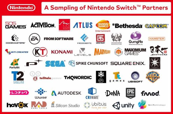 The number of partners that are on board for the Nintendo Switch is staggering. <br> Image source: Facebook.
