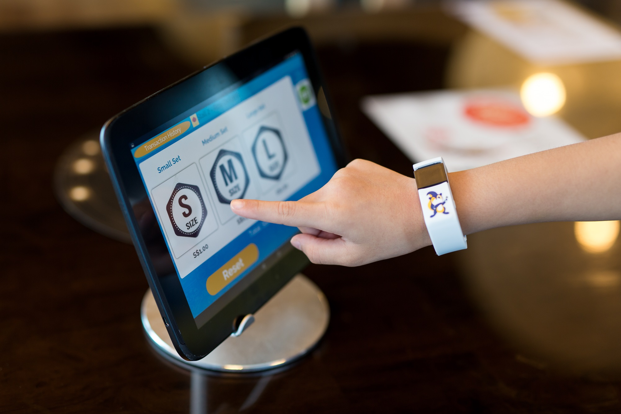 To purchase an item in school, students can select the relevant items at a contactless terminal in the canteen or bookstore, and then scan their POSB Smart Buddy watch or card to complete the purchase.