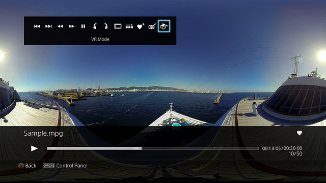 Update v2 5 for the PS4's media player adds 360-degree video