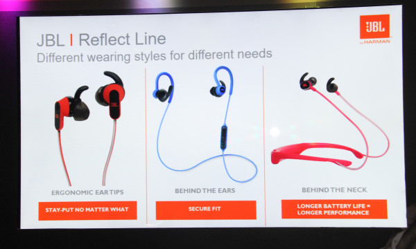 The JBL Reflect Series Sport in-ear headphones.