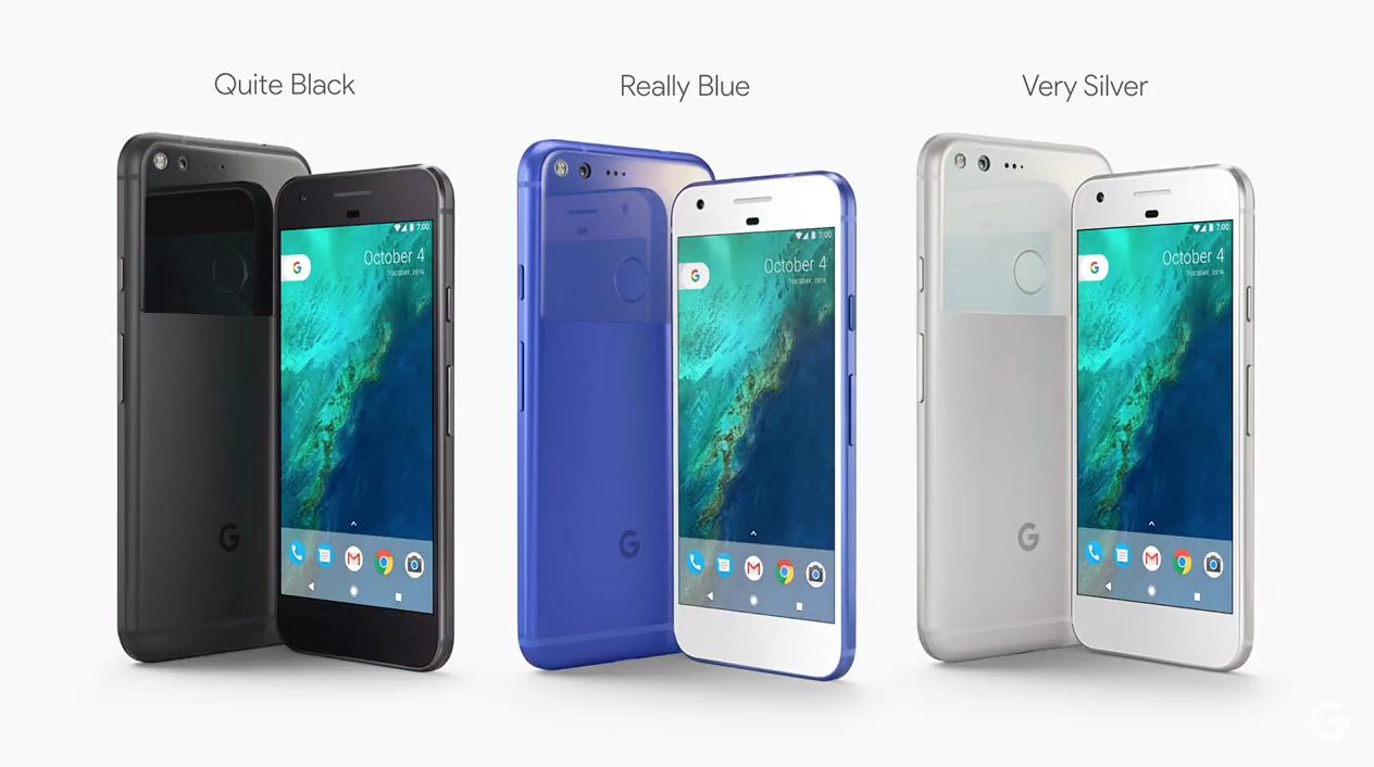 The Google Pixel smartphone.