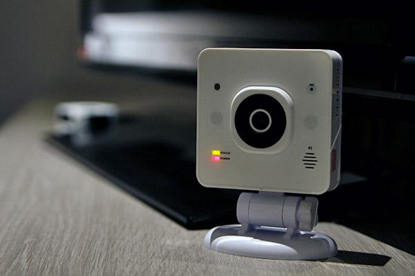 The Singtel Smart Hub is small, and even doubles as a security camera.