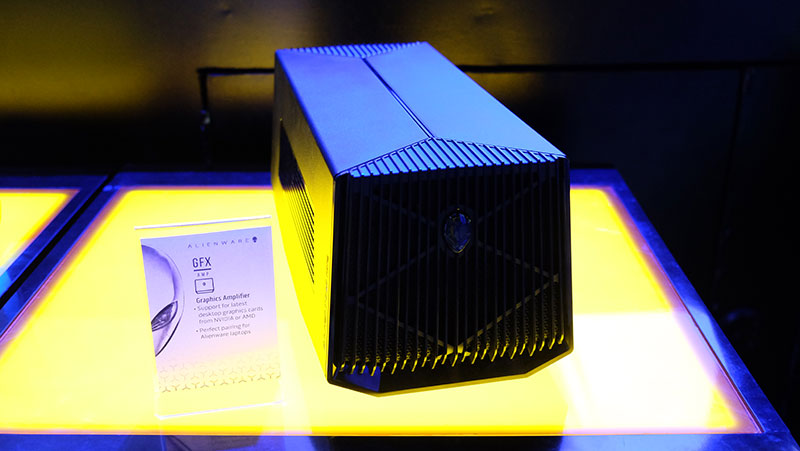 The Alienware Graphics Amplifier uses a proprietary connector, so it will only work with Alienware notebooks.