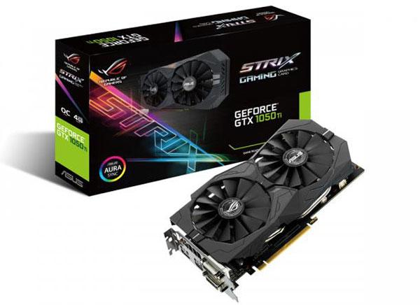 ASUS ROG Strix GeForce GTX 1050 Ti.