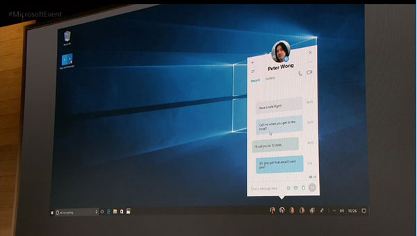 Messages will appear right on your desktop as soon as you get the notification.