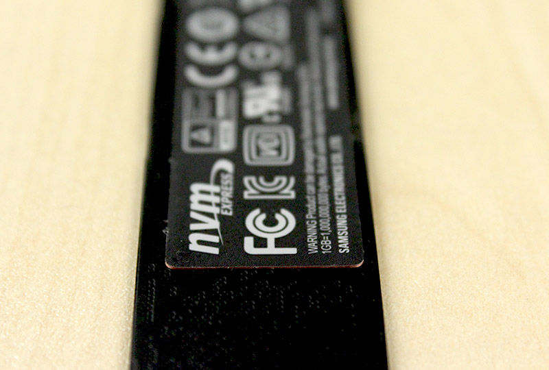 A thin piece of copper in the adhesive label on the drive helps keep it cool.