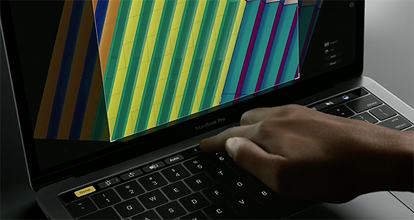 Touch Bar in action.