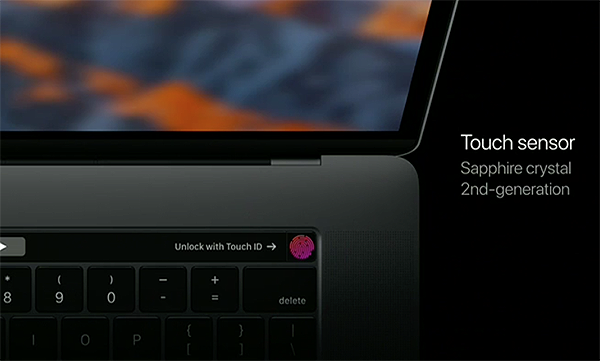 TouchID makes it easy to log in and also facilitates Apple Pay for online shopping.