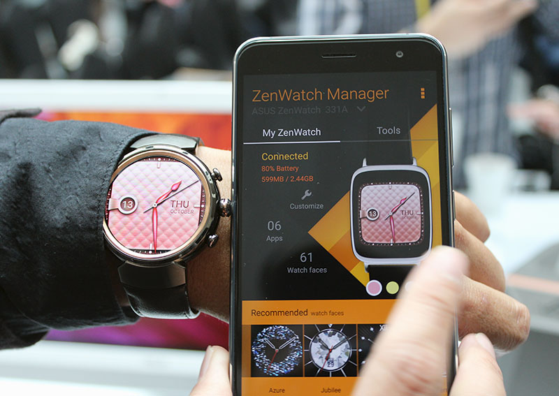 You can change your ZenWatch 3's watch face on the watch itself or with the ZenWatch Manager app.