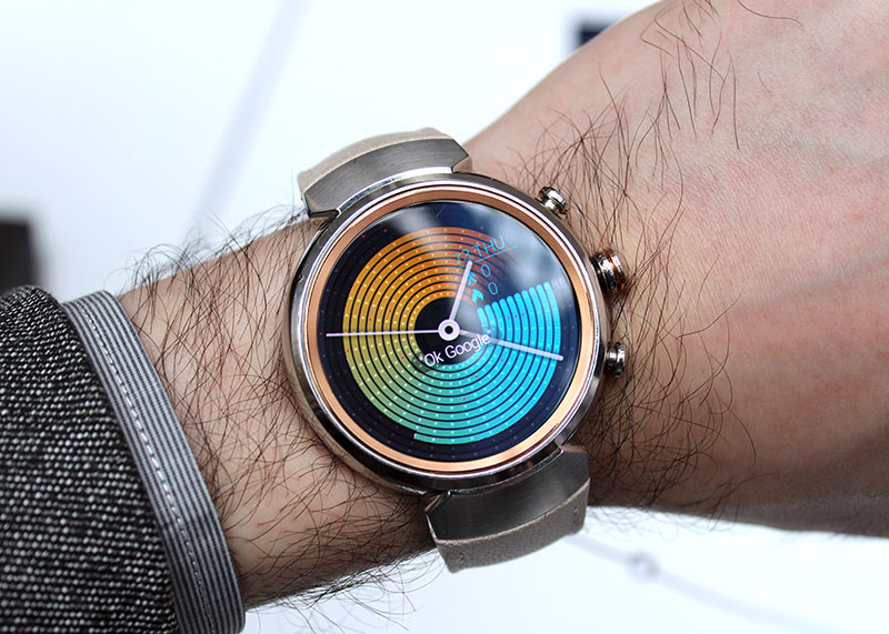 The ZenWatch 3 fits well on my wrist, and I love the soft calf leather strap.