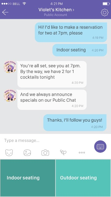 One-on-one chat through bot