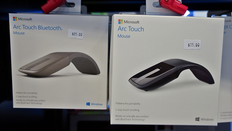 Speaking of classics, it has been almost half a decade since the Microsoft Arc Touch was launched. You can still buy it at $75 in its new package (updated Microsoft logo, circa 2012), or for $10 more, you can upgrade to the Arc Touch Bluetooth ($85).