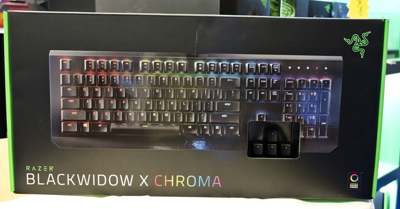 The Razer BlackWidow X Chroma is Razer's newest mechanical keyboard and is basically a stripped down version of its existing BlackWidow Chroma. As a show special, it's retailing at $189.90
