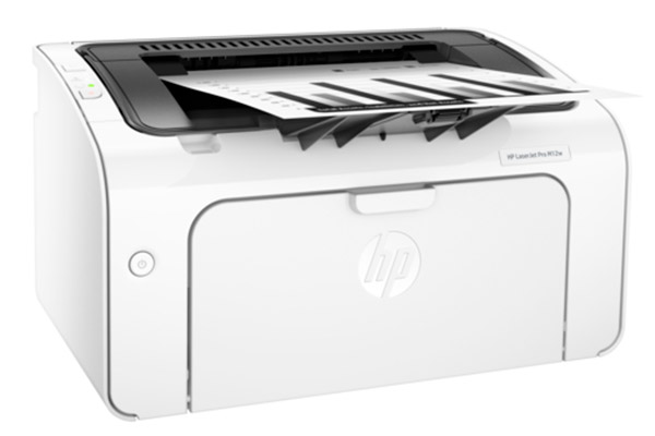The HP LaserJet Pro M12w is a low-cost laser printer that prints up to 18ppm and has built-in wireless support.