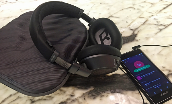 Plantronics BackBeat Pro 2 Special Edition, with its hard carrying case.